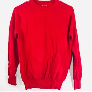 Cat & Jack Boys Red Scoop Neck Sweater Size L 16